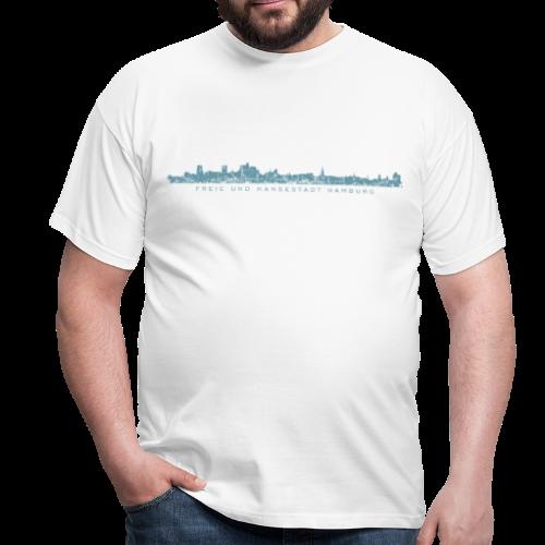 Freie und Hansestadt Hamburg Skyline EP (Blau) T-Shirt - Männer T-Shirt