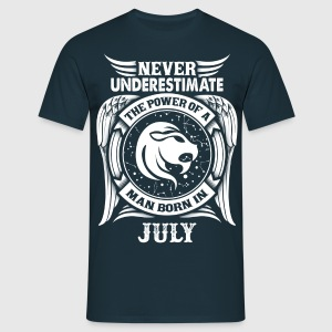 ...Power Of A Man Born In July, Leo Sign T-Shirts - Men's T-Shirt