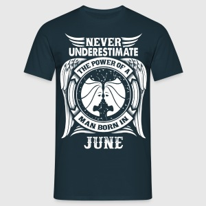 ...Power Of A Man Born In June, Gemini Sign T-Shirts - Men's T-Shirt