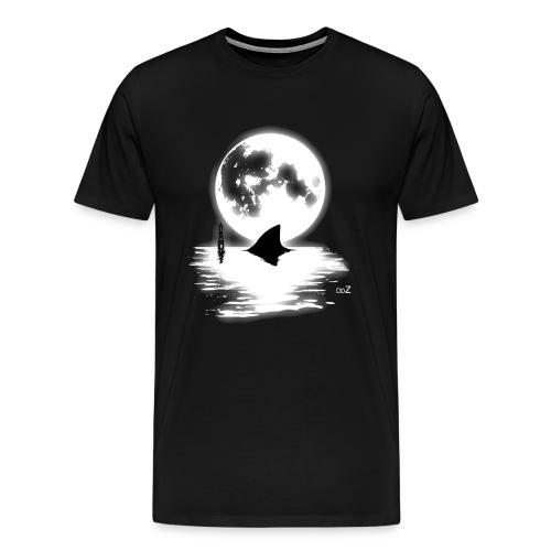 Shark full moon graphic - T-shirt Premium Homme