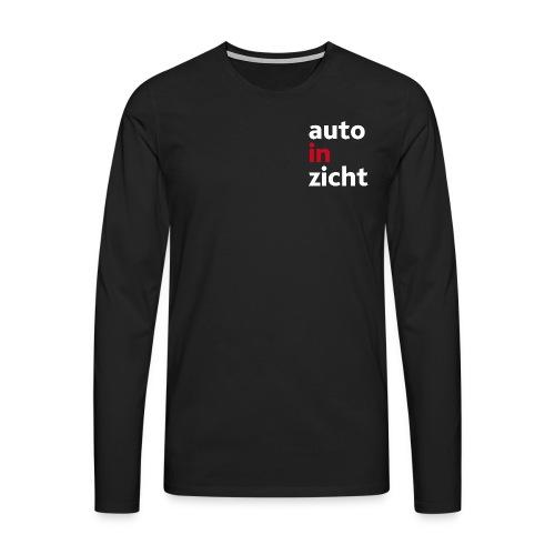 Shirt met lange mouwen heren zwart - Mannen Premium shirt met lange mouwen