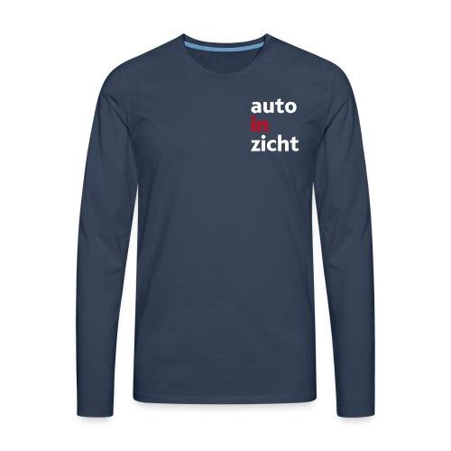 Shirt met lange mouwen heren navy blue - Mannen Premium shirt met lange mouwen