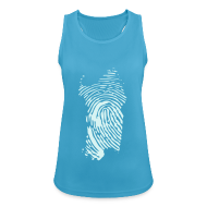 Abbigliamento sportivo ~ Top da donna traspirante ~ Impronta digitale catarifrangente