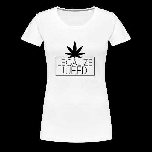 Legalize weed - Shirt Frauen weiß - Frauen Premium T-Shirt
