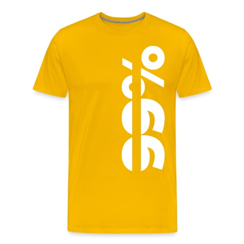99% Original tee - Lemon - Miesten premium t-paita