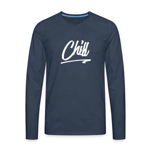 [EXCLUSIVE] CHILL - Navy Blue - Men's Premium Longsleeve Shirt
