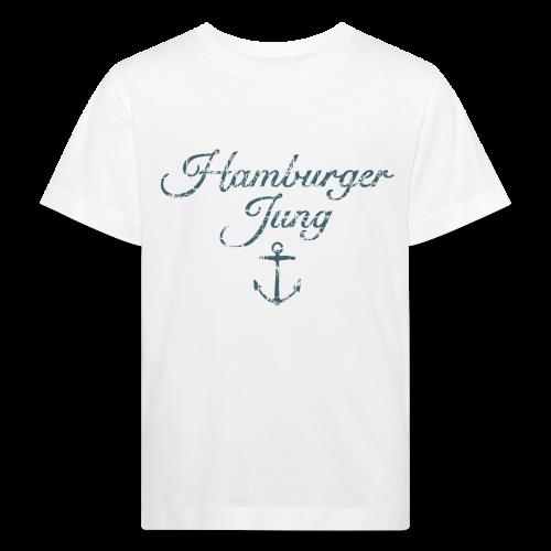 Hamburger Jung Anker Classic (Vintage Blau) Kinder Bio T-Shirt - Kinder Bio-T-Shirt