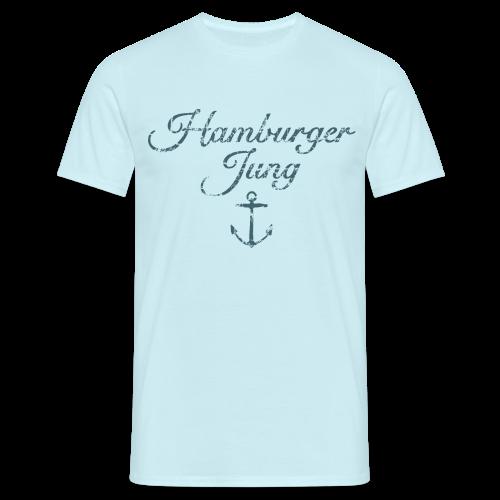 Hamburger Jung Anker Classic (Vintage Blau) T-Shirt - Männer T-Shirt