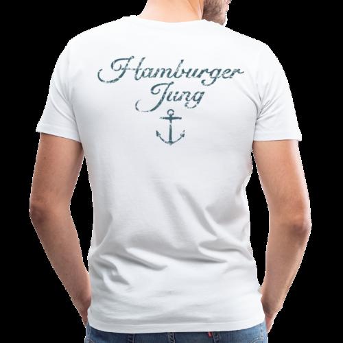 Hamburger Jung Anker Classic (Vintage Blau) S-5XL T-Shirt - Männer Premium T-Shirt