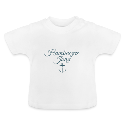Hamburger Jung Anker Classic (Vintage Blau) Baby T-Shirt - Baby T-Shirt