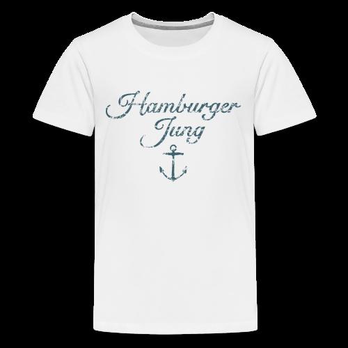 Hamburger Jung Anker Classic (Vintage Blau) Teenager T-Shirt - Teenager Premium T-Shirt