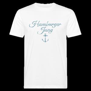 Hamburger Jung Anker Classic (Vintage Hellblau) Bio T-Shirt - Männer Bio-T-Shirt