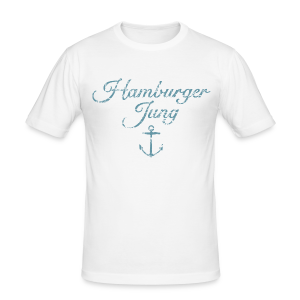 Hamburger Jung Anker Classic (Vintage Hellblau) Slim Fit T-Shirt - Männer Slim Fit T-Shirt