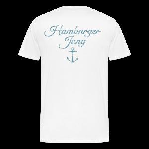 Hamburger Jung Anker Classic (Vintage Hellblau) S-5XL T-Shirt - Männer Premium T-Shirt