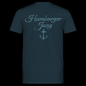 Hamburger Jung Anker Classic (Vintage Hellblau) T-Shirt - Männer T-Shirt