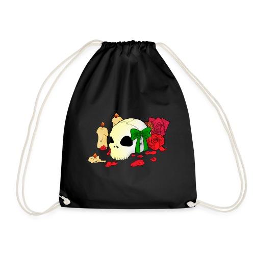Turnbeutel - Candle,Goth,Rose,Skull