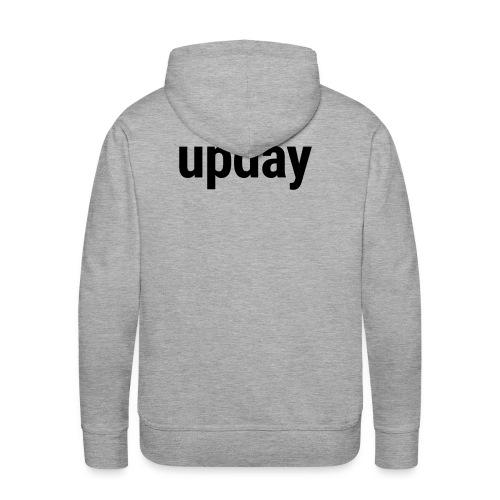 upday Hoodie male grey - Men's Premium Hoodie