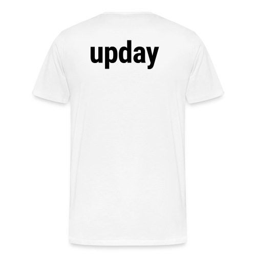 upday T-Shirt male white - Men's Premium T-Shirt
