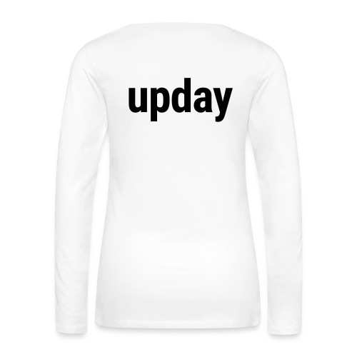 upday Longsleeve female white - Women's Premium Longsleeve Shirt