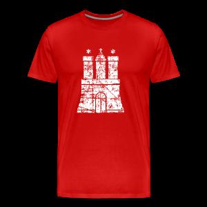 Hamburger Wappen (Vintage) Hamburg S-5XL T-Shirt - Männer Premium T-Shirt