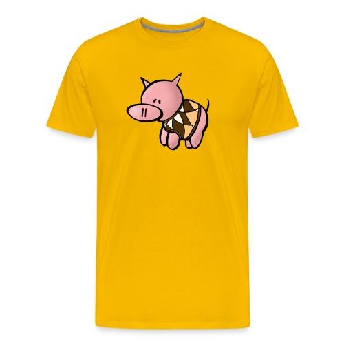 Grisen i pullover - Premium-T-shirt herr - Premium-T-shirt herr