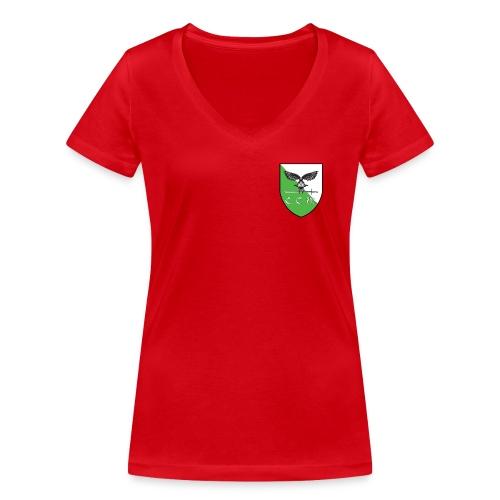 T-shirt Chartreuse Combat Médiéval Femme col V - T-shirt bio col V Stanley & Stella Femme