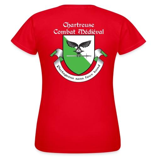 T-shirt Chartreuse Combat Médiéval Femme - T-shirt Femme