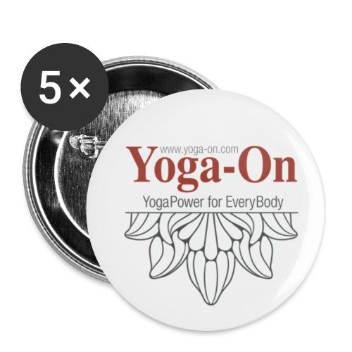 Yoga-On Badges - Buttons mittel 32 mm (5er Pack)