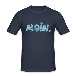 Moin. (Vintage Hellblau) Slim Fit T-Shirt - Männer Slim Fit T-Shirt
