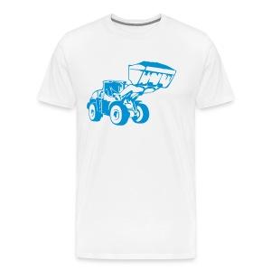Radlader, Wheel Loader (1 color) T-Shirts - Männer Premium T-Shirt