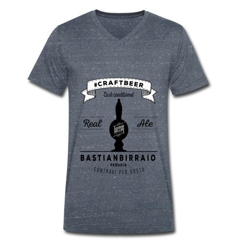 T-Shirt Real Ale bianca - T-shirt ecologica da uomo con scollo a V di Stanley & Stella