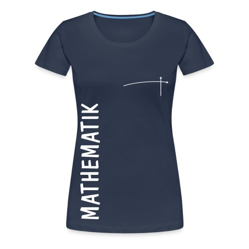 FS Mathe OL Damen Mathematik Schnitt 2 Navy - Frauen Premium T-Shirt