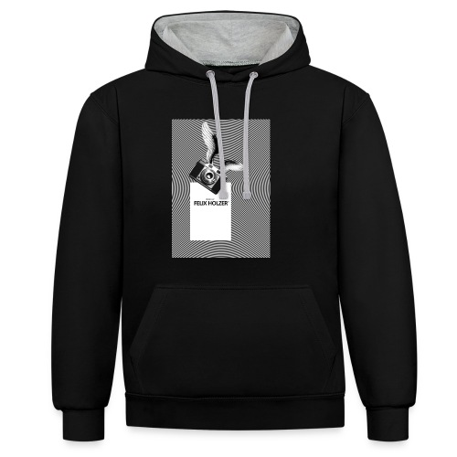 FLYING CAMERA Sweat Shirt by Felix Holzer® - Contrast Colour Hoodie