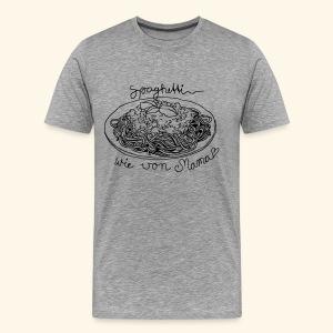 Spaghetti wie von Mama grau Boys - Männer Premium T-Shirt