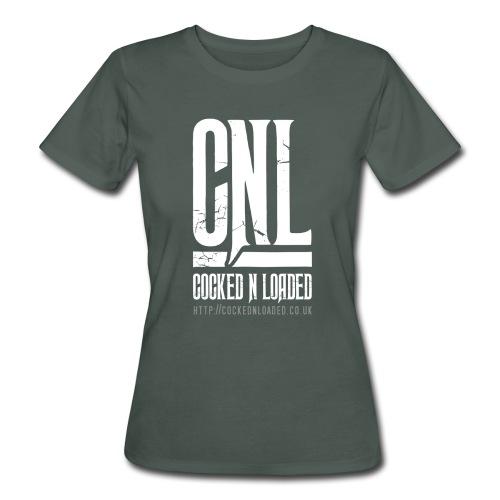 COCKED N LOADED WOMENS LOGO T-SHIRT 001 - Women's Organic T-Shirt