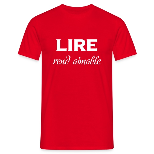 T-shirt rouge - Homme - Lire rend aimable - T-shirt Homme