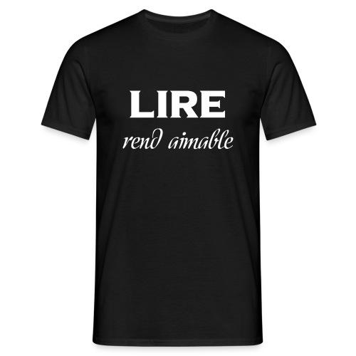 T-shirt noir - Homme - Lire rend aimable - T-shirt Homme