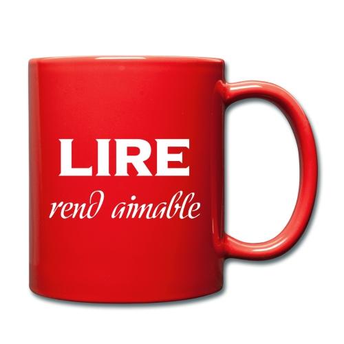 Tasse Rouge - Lire rend aimable - Mug uni
