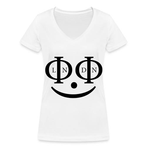LΦNDΦN SMILEY - Frauen Bio-T-Shirt mit V-Ausschnitt von Stanley & Stella