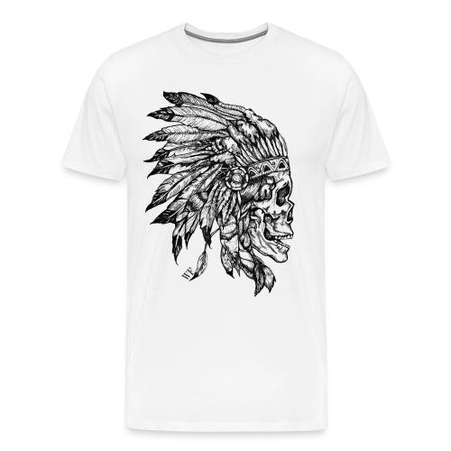 Skull WF White - T-shirt Premium Homme