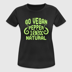 FRESH PEPPER - THE SHIT IS 100% VEGAN, ALTA! Sports wear - Women's Breathable T-Shirt