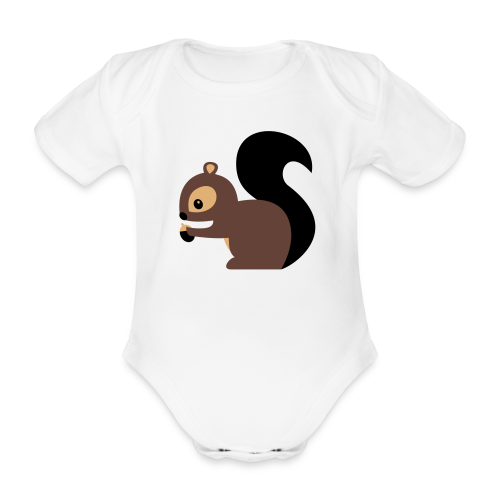 Baby-Body: Eichhörnchen - Baby Bio-Kurzarm-Body