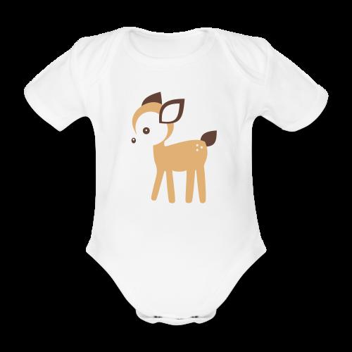 Baby-Body: Reh (hell) - Baby Bio-Kurzarm-Body