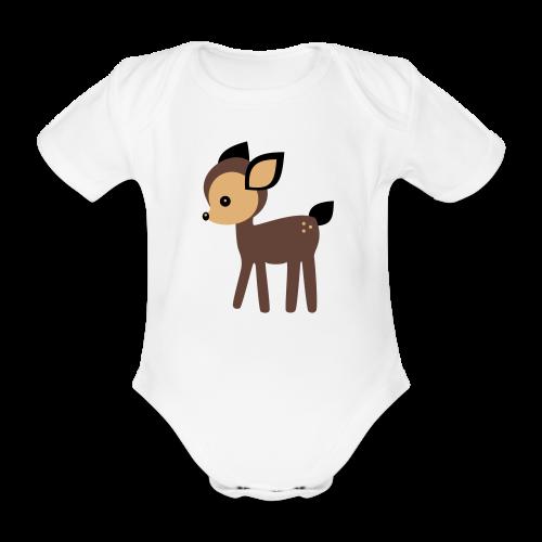 Baby-Body: Reh - Baby Bio-Kurzarm-Body