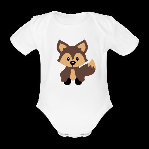 Baby-Body: Fuchs - Baby Bio-Kurzarm-Body