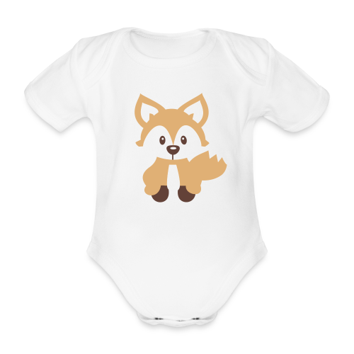 Baby-Body: Fuchs (hell) - Baby Bio-Kurzarm-Body