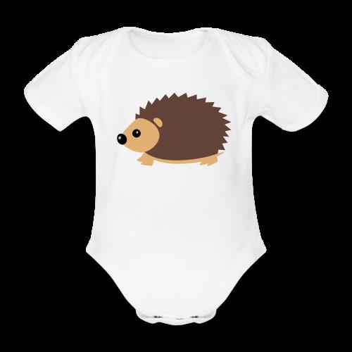 Baby-Body: Igel - Baby Bio-Kurzarm-Body