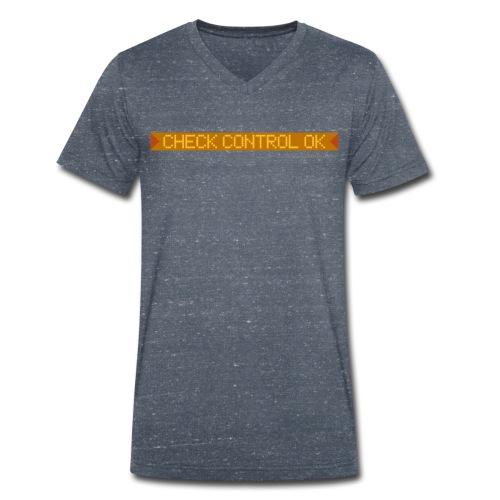 V-Shirt Check Control OK - Männer Bio-T-Shirt mit V-Ausschnitt von Stanley & Stella