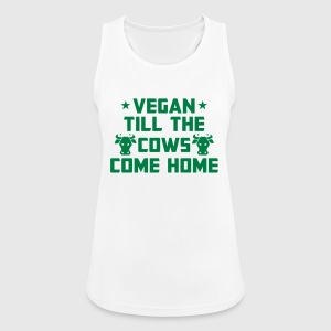 I'M VEGAN - UNTIL THE COWS RETURN HOME! Sports wear - Women's Breathable Tank Top