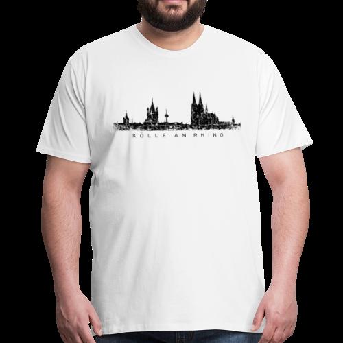 Kölle am Rhing Skyline (Vintage Schwarz) S-5XL Köln T-Shirt - Männer Premium T-Shirt